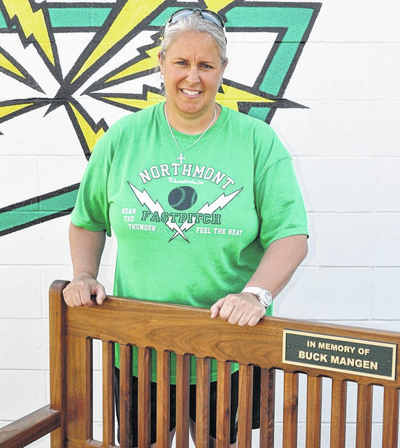 <strong>Northmont softball coach Kris Mangen.</strong>