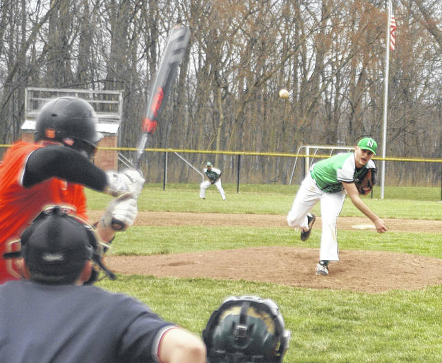 <strong>Northmont pitcher Jason Kohr delivers a strike to the plate against Beavercreek.</strong>