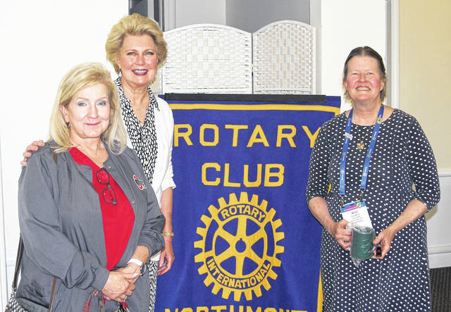 <strong>Shown with Ariel Miller (right) are Rotarians Dr. Bev Franz (left) and Sandy Williams (center).</strong>