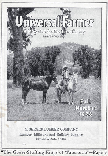 <strong>Copies of Universal Farmer magazine are part of the Randolph Township Historical Society's archives.</strong>