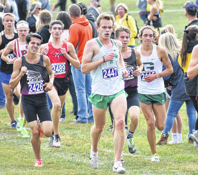 <strong>Northmont junior Isaac Studebaker (2447) qualified for regional by placing 19th overall with a time of 16:38.98.</strong>