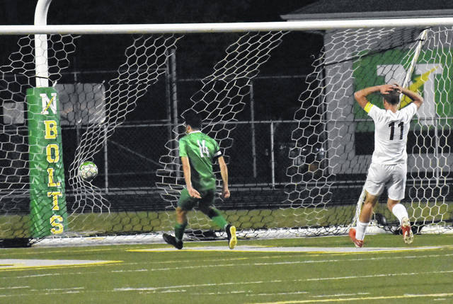 <strong>Justin Menker scores the winning goal with 32:50 left in the second half.</strong>