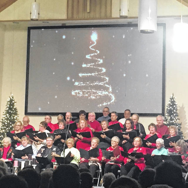 Shown is the 2018 Christmas Showboat choir.