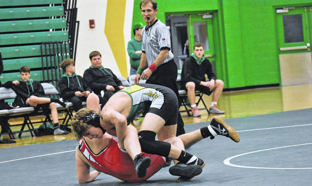 <strong>Logan Pike won by a fall (2:42) vs. Riese Koors.</strong>