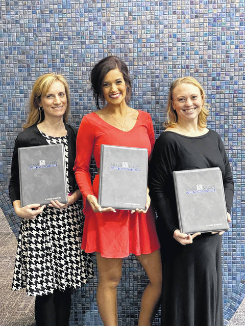 Miami Valley Career Technology Center is proud of the recent Adult Education Eye Care/OphthamicTechnician Program Graduates, Shown, from left, are Amy Davis (Eaton), Katrina Agers (Englewood) and Madison Cook (New Madison).