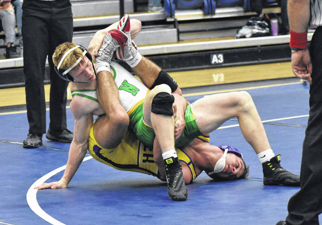 <strong>Andrew Knick (152 pounds) scored a 10-3 decision over Deaglen Pyle of Butler.</strong>