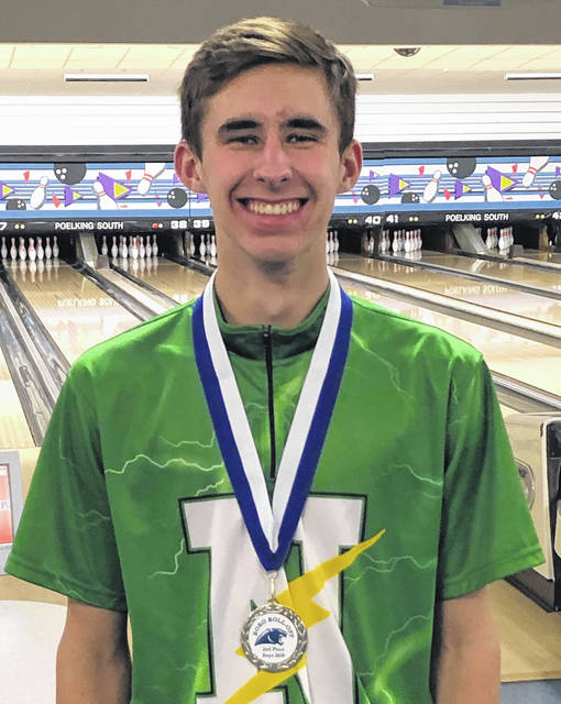 <strong>Senior Josh Hanssen's 635 three game series earned him 2nd Place Medal on the All-Tournament team at the 'Boro Roll-Off.</strong>