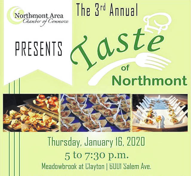 <strong>The third annual 'Taste of Northmont' will be held on Thursday, January 16 from 5 to 7:30 p.m. at Meadowbrook at Clayton, 6001 Salem Ave.</strong>