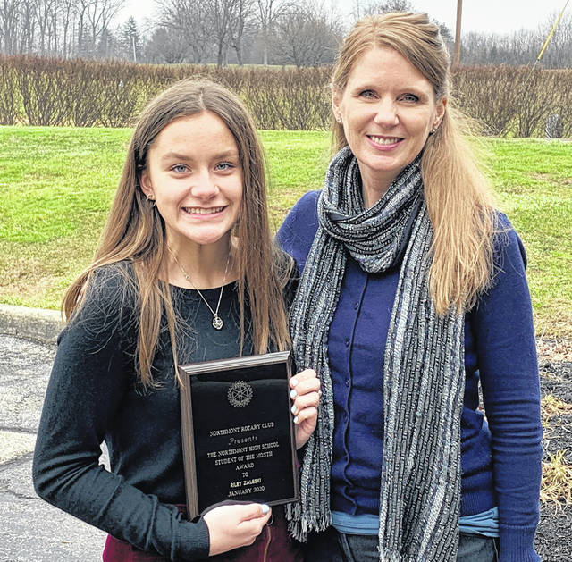 <strong>Riley Zaleski (left) is pictured with Northmont High School Guidance Counselor Sheree Coffman.</strong>