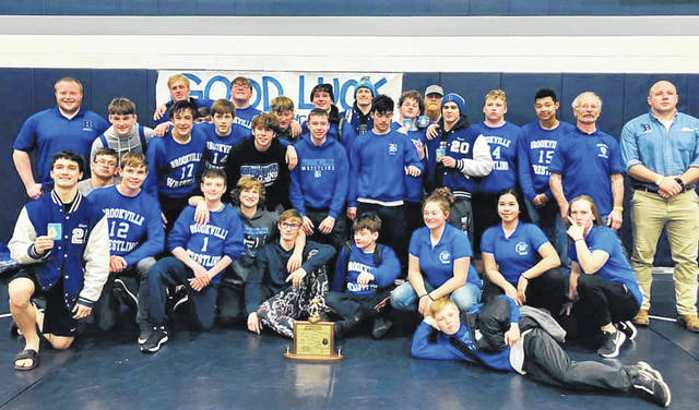 The Brookville Blue Devils wrestling team captured the SWBL wrestling championship this past weekend.