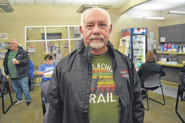 <strong>Clayton donor Roger Dietsch made his 100th lifetime donation March 20 at the Dayton CBC Donor Center.</strong>