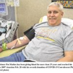 Mathes makes 200th blood donation