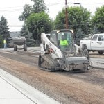 Road work continues in city