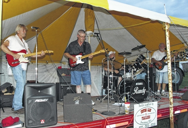 Local band Country Express entertained at the Fayette County Fair on Monday.