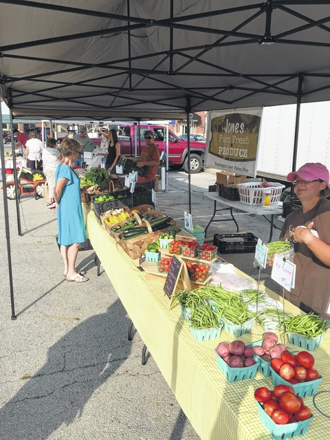 The Jones Farm Fresh produce table will be at Saturday's Fayette County Farmers Market.