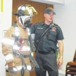 Fire Chief Hauer educates library patrons
