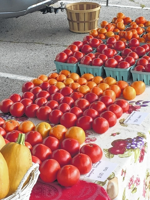Savor traditional and heirloom tomatoes at the tasting event Saturday at the Fayette County Farmers Market.