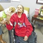 Woman reunited with beloved dog