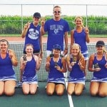Lady Lion tennis 2nd at Logan Elm Invit.