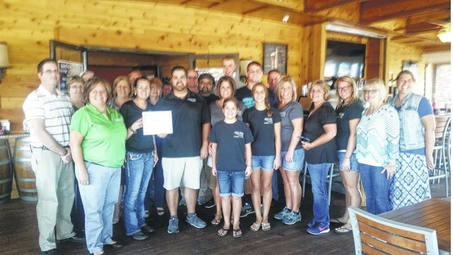 The Rusty Keg was recently awarded a plaque for continuing as a member of the Fayette County Chamber of Commerce for five years.