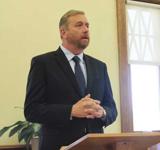 State auditor Dave Yost talks about firing two auditors and demoting another in connection to nearly $500,000 in funds allegedly stolen by former South Amherst village clerk Kimberly Green. He used harsh words Friday in a press conference at the Amherst Public Library.
