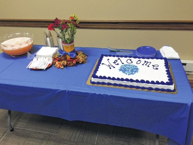 The Washington C.H. City School Board invited the new teachers to Monday night's board meeting and hosted a meet-and-greet complete with Blue Lion cake and punch.