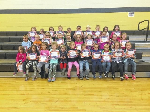 "The following students recently received recognition for being Students of the Month for the month of September at Miami Trace Elementary School. These students were chosen for being responsible at school each and every day and were treated to Donato's during ""Pizza with the Principal."" Front row (L to R): Cori Elliot, Layla Amnay, Brilynne Ford, Sydney Forsha, Myah Dato, Aubrey Creed, Reed Miller, Caleb Esker, Carter Davidson, Keiana Toles and Kiele Hannah. Middle row (L to R): Zander Stodgel, Harley Therrien, Alainee Wolffe, Mason Jackson, Paige Fitzgerald, Haydn Ratliff, Abigale McMahon, Mattisyn May, Kaylee Craig and Kaylee Jones. Back row (L to R): Erin LeBlanc, Ava Crank, Emily Boysel, Jarett Daniels, Rylan Ingles, Lincoln Jester, Zeke Proudfoot, Taylor Sexton, Morgan Elliott and Rylee Blair. Not Pictured: Zeller Kirkpatrick."
