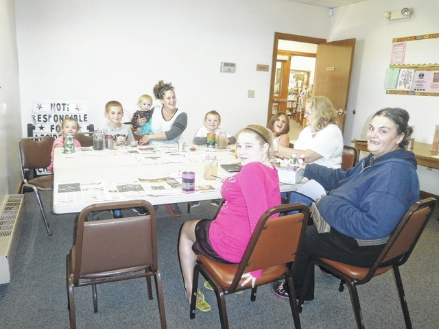Crafters enjoyed creating a beautiful tin lantern just in time for fall with Miss Linda at Jeffersonville Branch Library recently. Those enjoying the workshop were Evie, Kayden, Stevie, Ellie, Collin, Abby, Miss Linda, Jean and Tonya.