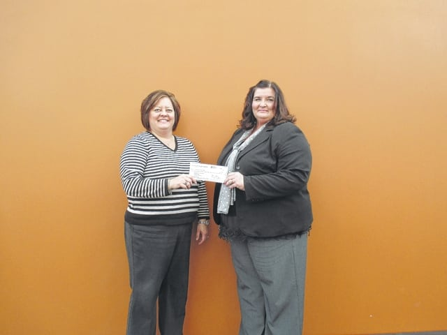 The Fayette County Chamber of Commerce recently made a $1,000 donation to the Southern State Community College Foundation for the purpose of scholarships. Pictured: from left, Whitney Gentry Fayette County Chamber President and Dr. Jessica Wise, Dean of Instructional Operations and Fayette Campus Director.