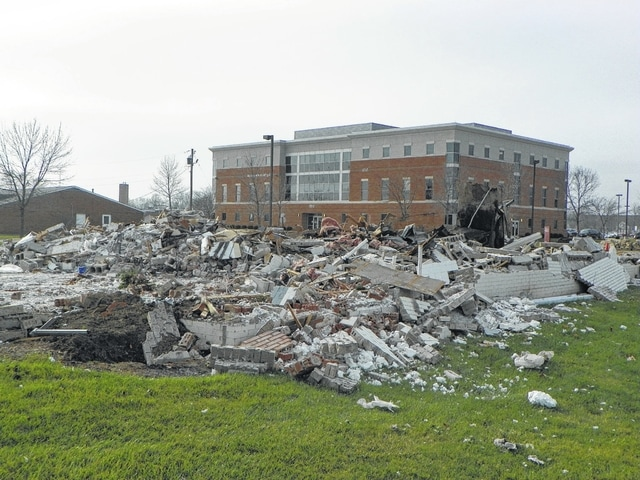 The building that was formerly the Golden Corral and used at times in the past for the Good Hope Lions Club Candy Store on Columbus Avenue was demolished recently. Fayette County Memorial Hospital, which owns the lot, said that the building had been primarily used for storage the past few years and they are discussing possible uses for the space.