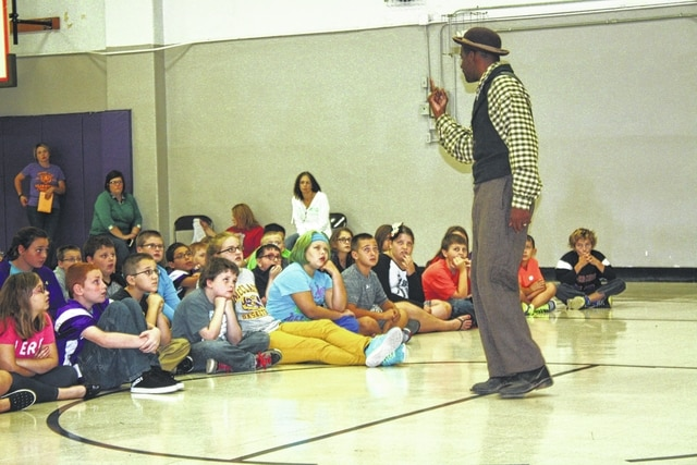 Anthony Gibbs presented a program to the Greenfield fifth graders in October. The Greenfield Historical Society's fundraisers funded this program was funded along with the help of the Buckskin and Rainsboro PTOs.