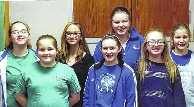 The Packrat Crafters 4-H Club installed the 2016 officers during its first meeting on Jan. 28. The new officers include (L to R): president Macy Miller, treasurer Emma Miller, vice president Eva Smalley, secretary Abby Joseph, reporter Emilee Wilson, safety officer McKenzie Vanslyke and health officer Kendall Dye.