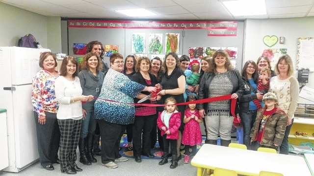 The Fayette County Chamber of Commerce was on hand recently to help the Fayette County Community Action Commission announce its official ownership of Rock-A-Bye Daycare and show off some of its new employees and features.