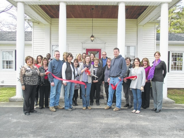 Rachel's House Catering & In-home Dining opened for business in December of 2015. Pictured are Fayette County Chamber of Commerce members welcoming the new business.