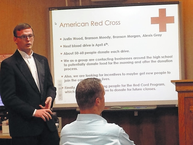 At Monday's school board meeting, the Washington High School DECA and High School of Business programs were seeking approval for multiple fundraising and community centered projects, which include cleaning The Warehouse. Justin Wood, a Washington High School student, presented a few of the projects to the board.