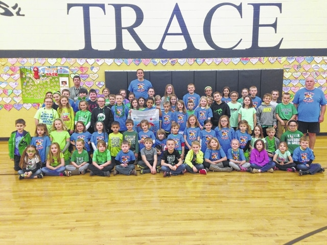 Jeff Conroy, principal at Miami Trace Elementary, wanted to thank all the students who raised money to support the American Heart Association through this year's Jump Rope for Heart. Mr. McCoy and Mr. Powell, P. E. teachers at MTES, were excited to participate this year and give the students the opportunity to have fun jumping rope and raising money for the American Heart Association. Aiden Pence was the top fundraising participant, raising $550. MTES raised $5,000 during Jump Rope for Heart.