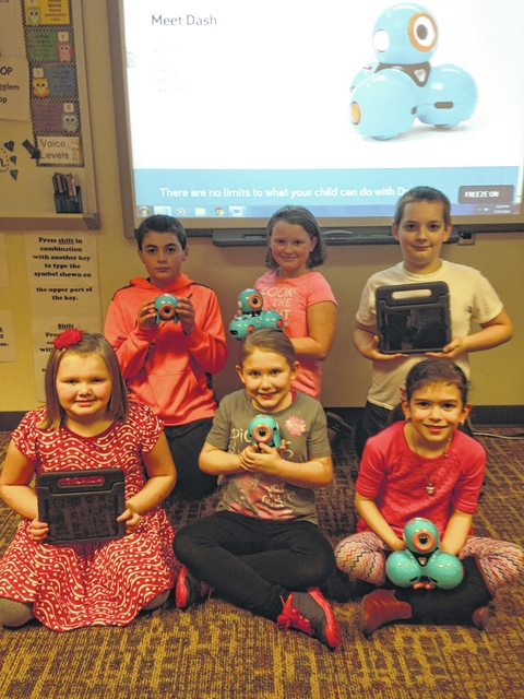 Students in grades K-5 at Miami Trace Elementary School will be working with robots during their technology class with teachers, Krissy Cooper and Carrie Walton.