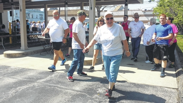 The annual Fayette County Hike for Hospice was held on Sunday starting at Merchants National Bank. The event was well attended, with children, adults and animals all taking part in the hike.