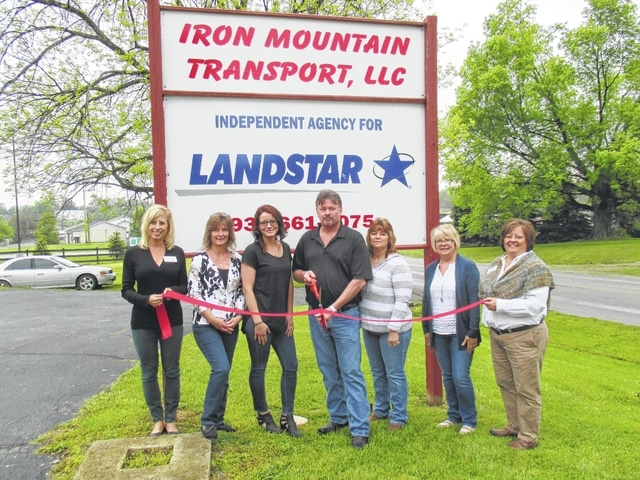 Fayette County Chamber ambassadors went to Hillsboro this week to welcome new member Iron Mountain Transport, LLC. Located at 7920 State Route 124, owner Craig Gross and staff have over 39 years of transportation experience in every part of the industry. They are able to tailor transportation logistics services to meet the client's needs. Gross feels what makes the company unique is its access to more than 41,000 available providers from every mode of transportation. The company strives to continue to provide safe, transportation logistics solutions, and 24/7 individual attention to detail while growing its customer base. For more information about Iron Mountain, visit www.ironmountaintransport.com or call 937-661-6075.