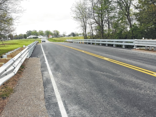 This new bridge on Baldwin Road in the county was completed by DGM Construction, of Pike County, late last month at the cost of $427,000. The project was 95 percent federally-funded and took less than two months to complete.