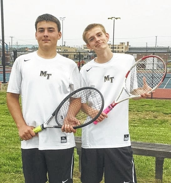 Miami Trace junior Seth Leach, left and sophomore Matt Fender, comprised the Panthers' first doubles team that qualified out of the Sectional and on to the District tournament this past Monday and Tuesday at Portsmouth. The District meet is Saturday, May 21 in Athens.