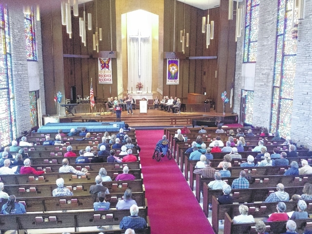 The Fayette County National Day of Prayer event was held on Thursday at the Grace United Methodist Church on Market Street in Washington Court House. A large crowd attended the event to pray for the country and other issues.