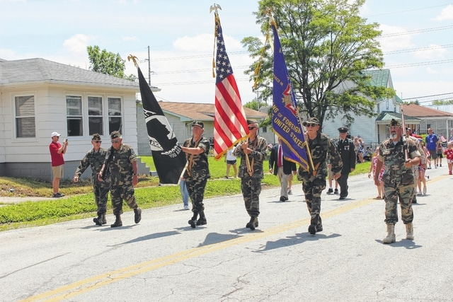 The Village of New Holland celebrated Memorial Day on Monday afternoon with a parade and a ceremony. This event is held thanks to New Holland VFW 8041 and its commander Dennis McCoppin. The Frankfort American Legion Honor Guard was on hand during the celebration.