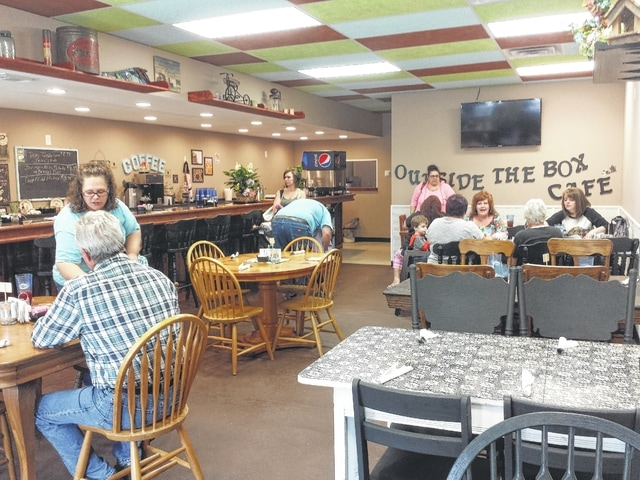 The Village of Jeffersonville recently added a colorful restaurant to its downtown scene with the opening of Outside The Box Cafe on April 18. Owners Terry and Melody Matthews commented on their business Wednesday and said that in the first month they have been pretty steady.