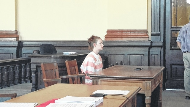 Ashley Rohrer appeared in the Fayette County Court of Common Pleas Monday.