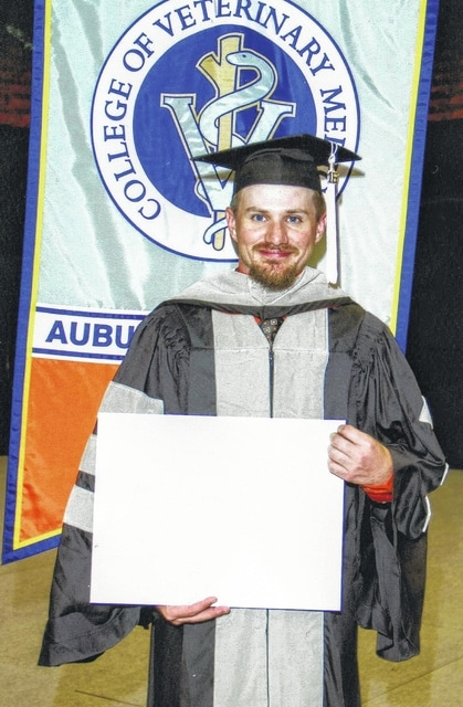 Dr. Jeremy Alltop graduated May 3, 2016, from Auburn University in Alabama with a Doctorate of Veterinary Medicine. While at Auburn he went on many externships around the country focusing on equine health. Upon graduation he has taken on a new venture by opening his own ambulatory practice in Arizona where he plans to continue to focus on horses with plans to open his own veterinary hospital in the years to come. Dr. Alltop began his career at Miami Trace where he graduated in 2006 as a third generation Trace graduate and then went on to the University of Arizona, graduating from there in 2009. Dr. Alltop is the son of Karla (Chris) Herrmann of Washington C.H. and Jeff Alltop of Arizona. He is the grandson of Larry and Bertha Fair of Sabina and Russ and Sue Alltop of Arizona.