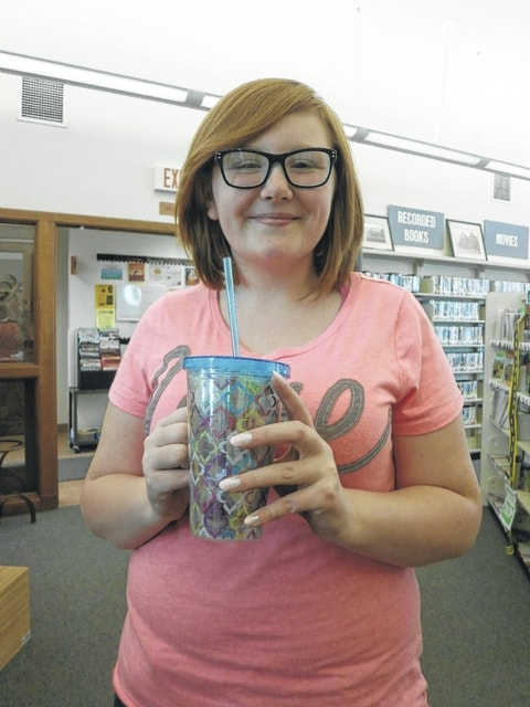 Ruth Coe won the most recent Susan's Secret Sweets by guessing how many life savers were in the beautiful cup at Jeffersonville Branch Library. She guessed right on the dot, 52.