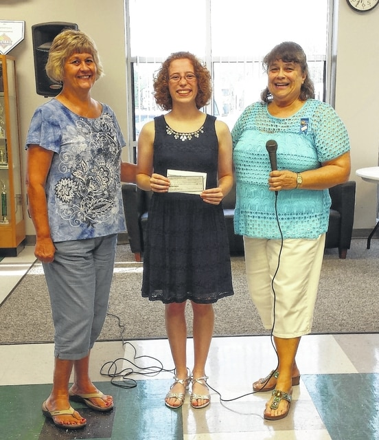 From left are Altrusa Treasurer Janet Martin, Erin Johnson from Miami Trace High School, and Altrusa Past President Alice Craig.