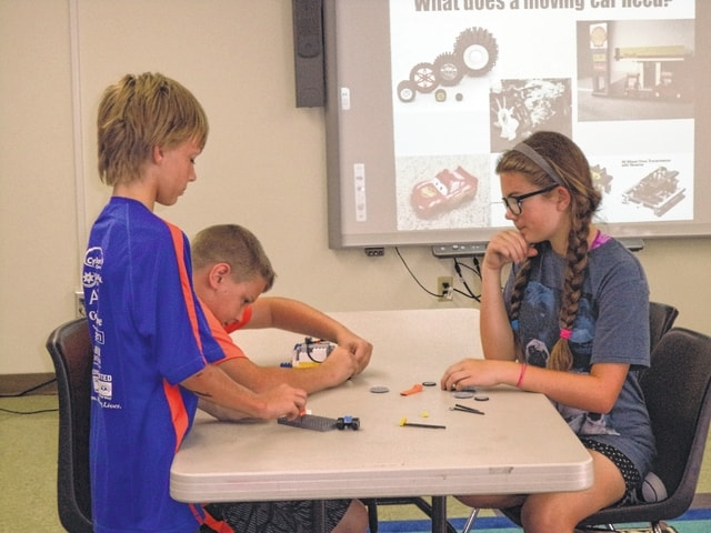 Towers and cars were constructed by a group of awesome Lego builders at the Carnegie Public Library recently.