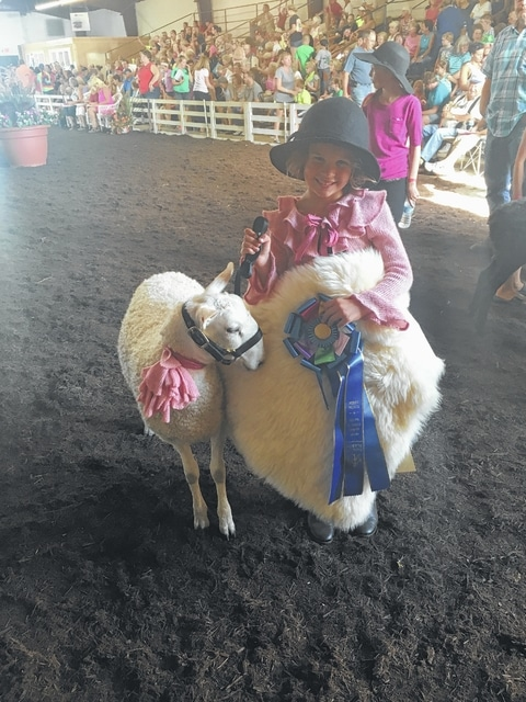 Emma Hagler is the daughter of Jimmy and Courtney Hagler of Bloomingburg. She won her class for 7-year-olds during Monday night's Ladies Lead at the Fayette County Fair.